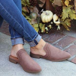 Shoes - 🚨LAST PAIR//The Meadow// Nutmeg Mule/Flat
